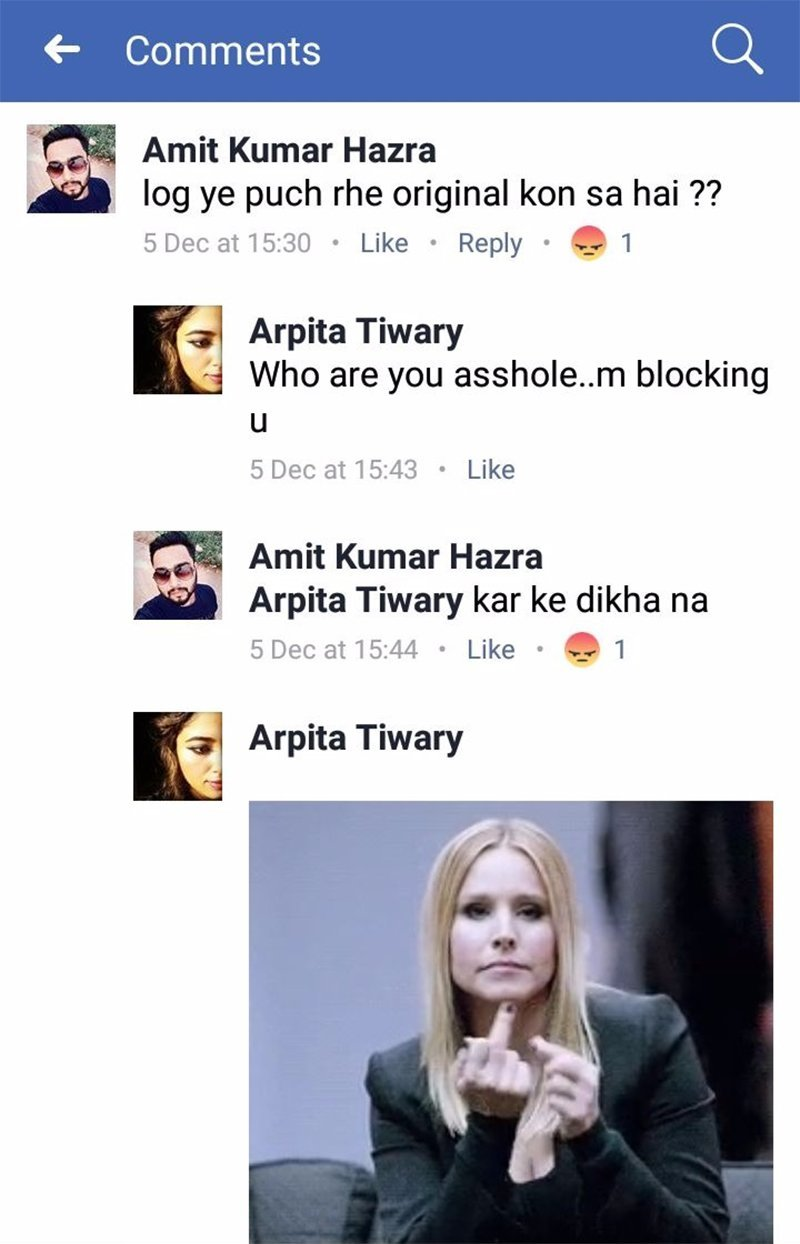arpita tiwari facebook post