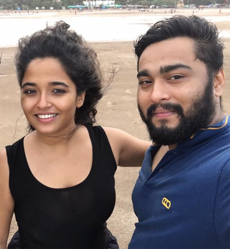 arpita tiwary and amit kumar hazra in happier times