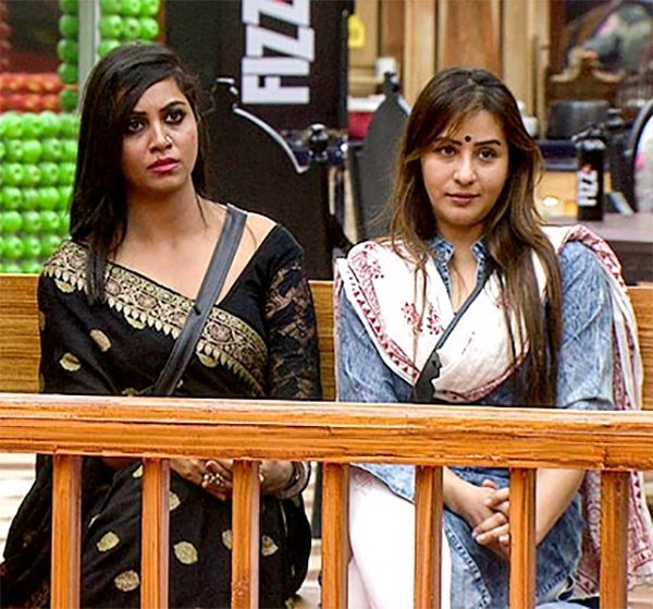 shilpa shinde and arshi khan in bigg boss 11