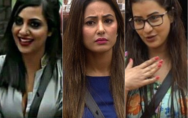 arshi khan hina khan and shilpa shinde