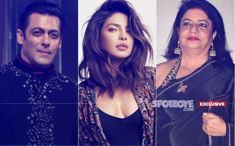 Salman Khan Royally Ignores Priyanka's Mother, Madhu Chopra. Daggers Are Drawn!