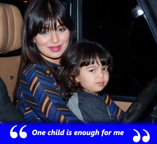 ayesha takia with son mikail