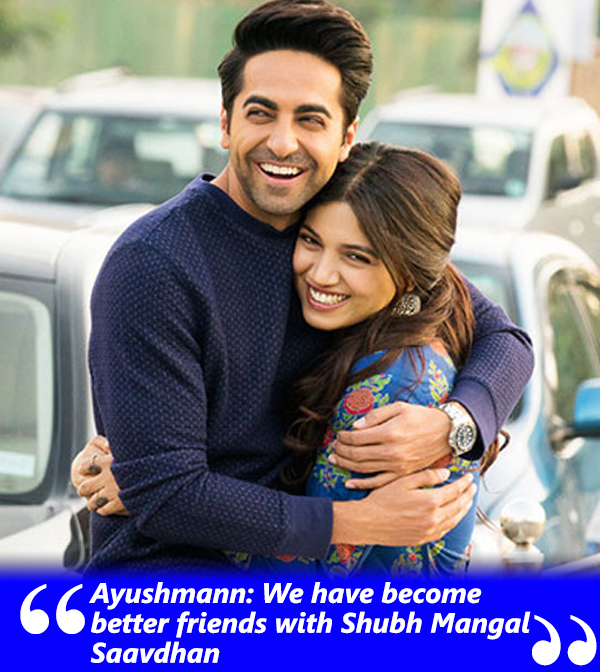 ayushmann and bhumi talk about their friendship
