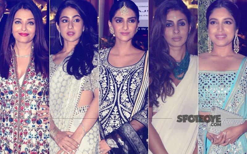 BEST DRESSED & WORST DRESSED At Sandeep Khosla's Niece's Sangeet: Aishwarya Rai, Sara Ali Khan, Sonam Kapoor, Shweta Bachchan Nanda Or Bhumi Pednekar?