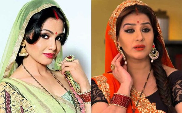 Bhabi Ji Ghar Par Hai Shubhangi Atre left Shilpa Shinde right