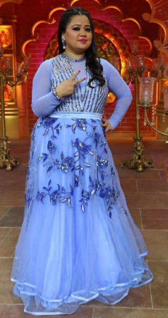 bharti singh poses for a candid picture