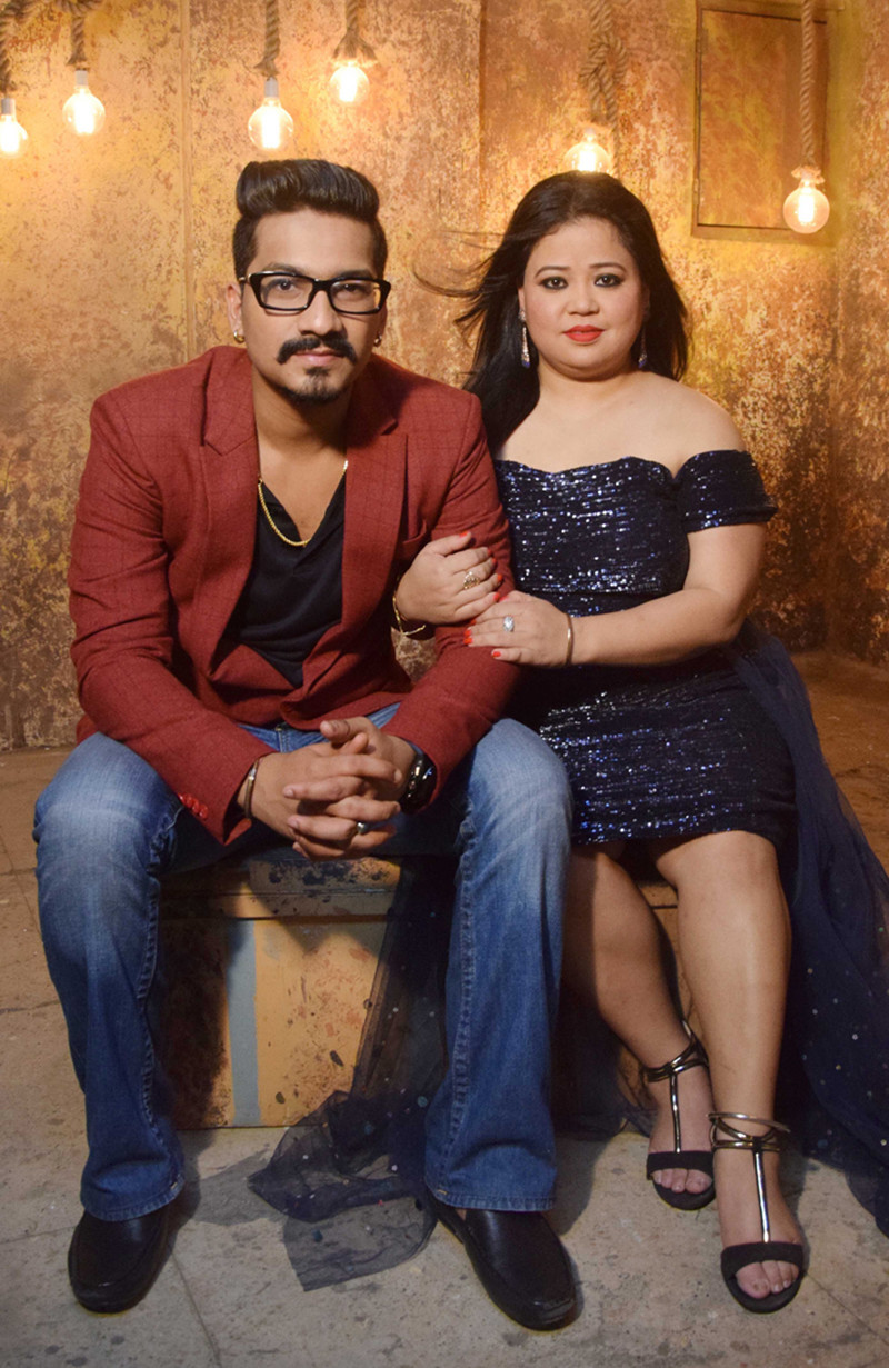 bharti singh with harsh limbachiyaa