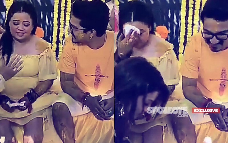 Bharti Singh Gets EMOTIONAL During Haldi Ceremony, Haarsh Limbachiyaa Comforts Her