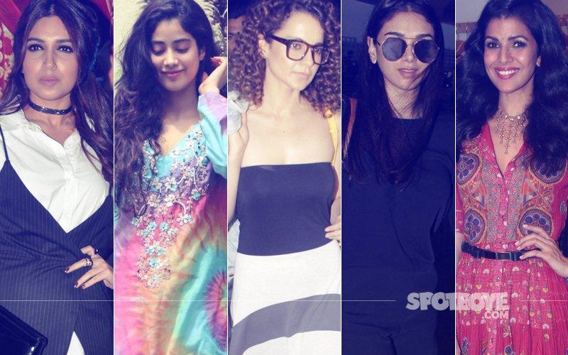 STUNNER OR BUMMER: Bhumi Pednekar, Jhanvi Kapoor, Kangana Ranaut, Aditi Rao Hydari Or Nimrat Kaur?