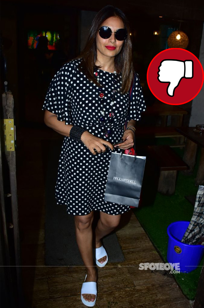 bipasha basu snapped post salon session
