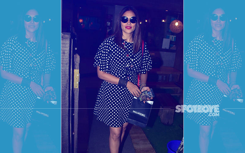 Bipasha Basu Rocks Polka Dots As She Heads Out To A Salon