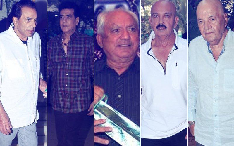 Dharmendra, Jeetendra, Rakesh Roshan, Prem Chopra Attend Mohan Kumar's Prayer Meet