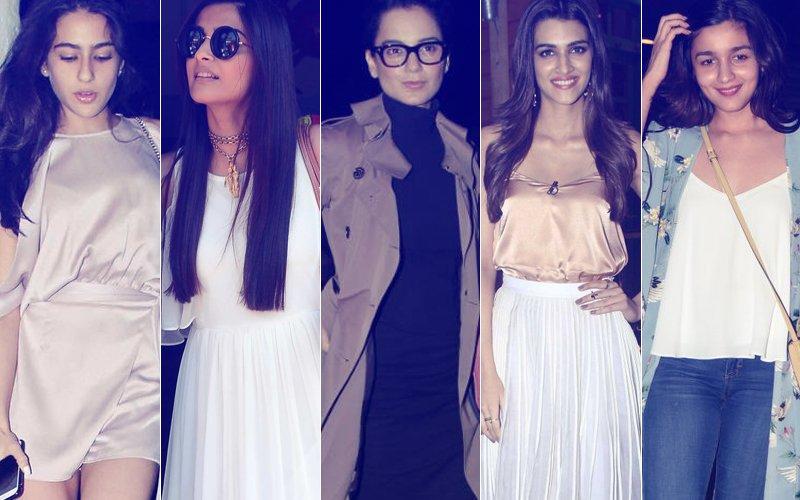 STUNNER OR BUMMER: Sara Ali Khan, Sonam Kapoor, Kangana Ranaut, Kriti Sanon Or Alia Bhatt?