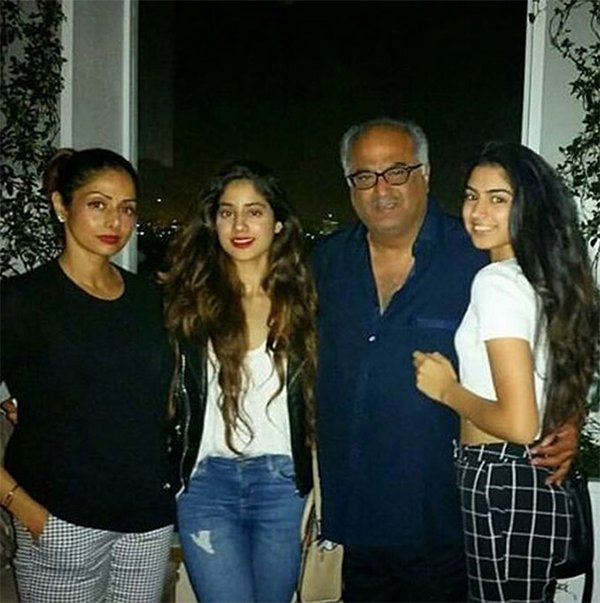 boney kapoor sridevi and janhvi kapoor
