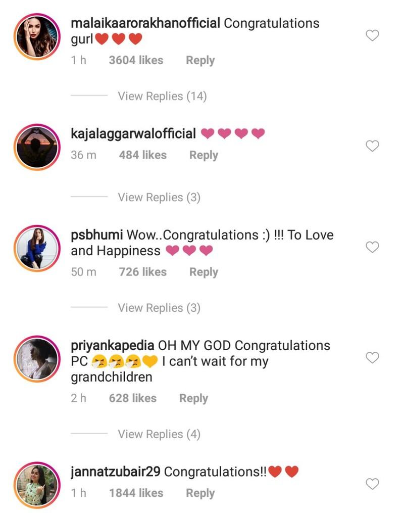 celebs wishing priyanka chopra on her engagement 3