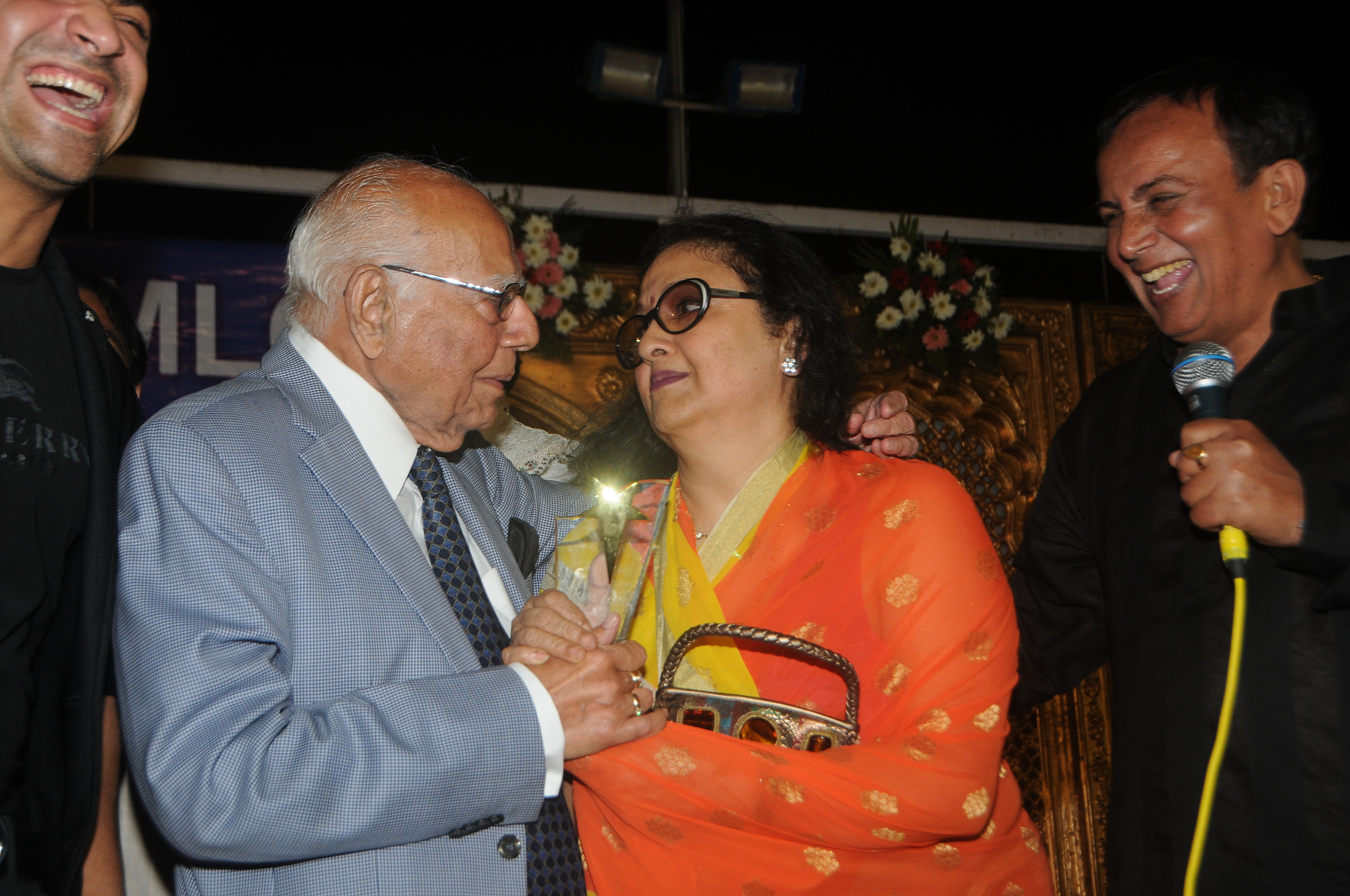 Ram Jethmalani And Leena Chandavarkar Lock Lips