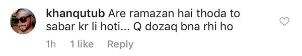 comments on fatima sana shaikhs instagram