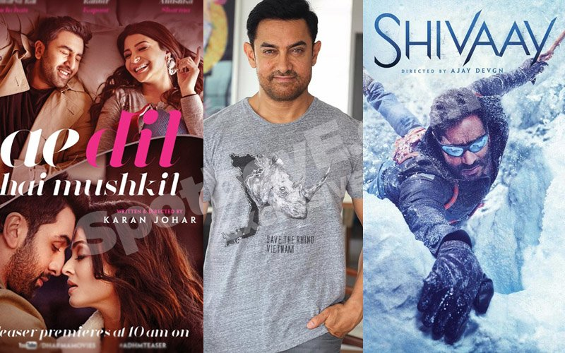 See Aamir Khan in Ae Dil Hai Mushkil and Shivaay both?