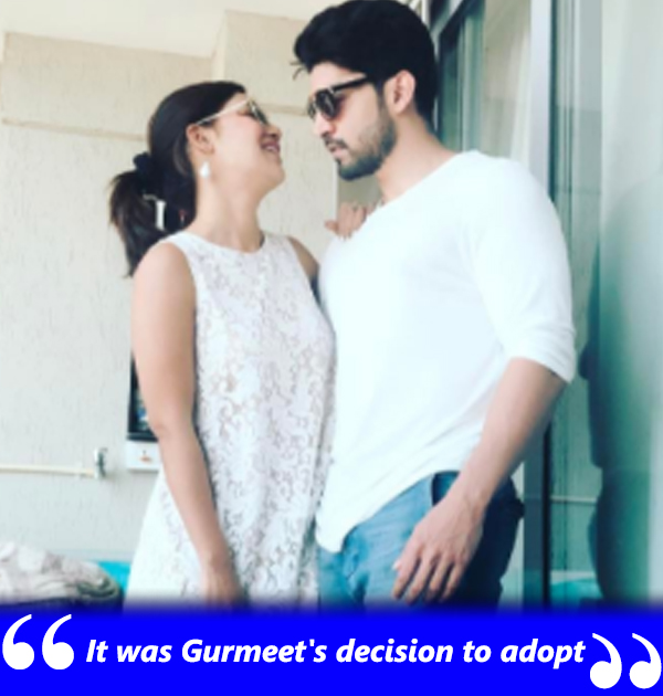debina says it was gurmeets decision to adopt