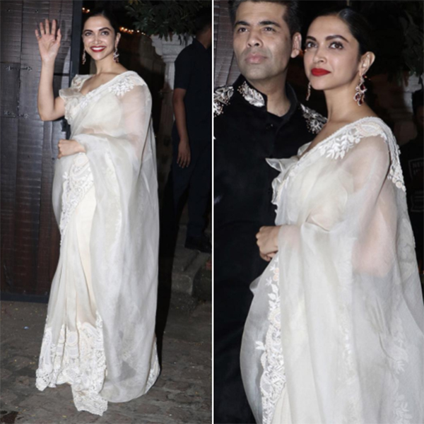 deepika padukone at anil and sonam kapoors diwali party