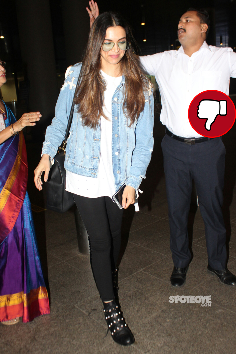 deepika padukone at the airport