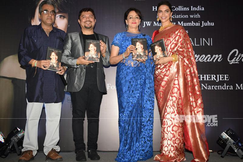 deepika padukone hema malini at hema malini autobiography launch in mumbai