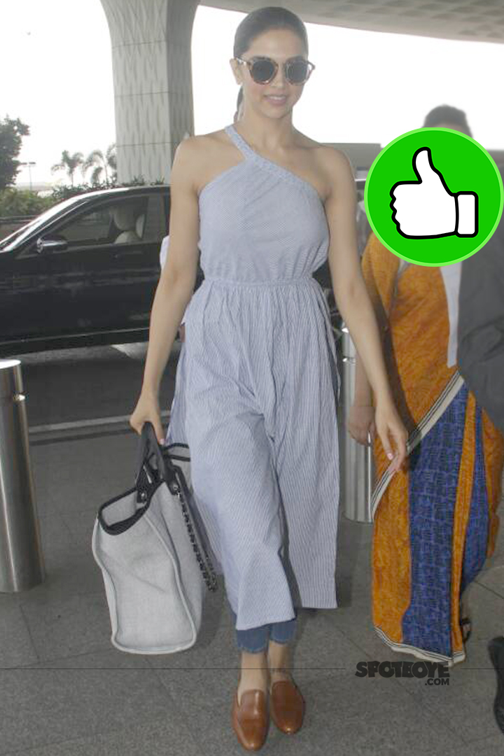 deepika padukone spotted at the airport
