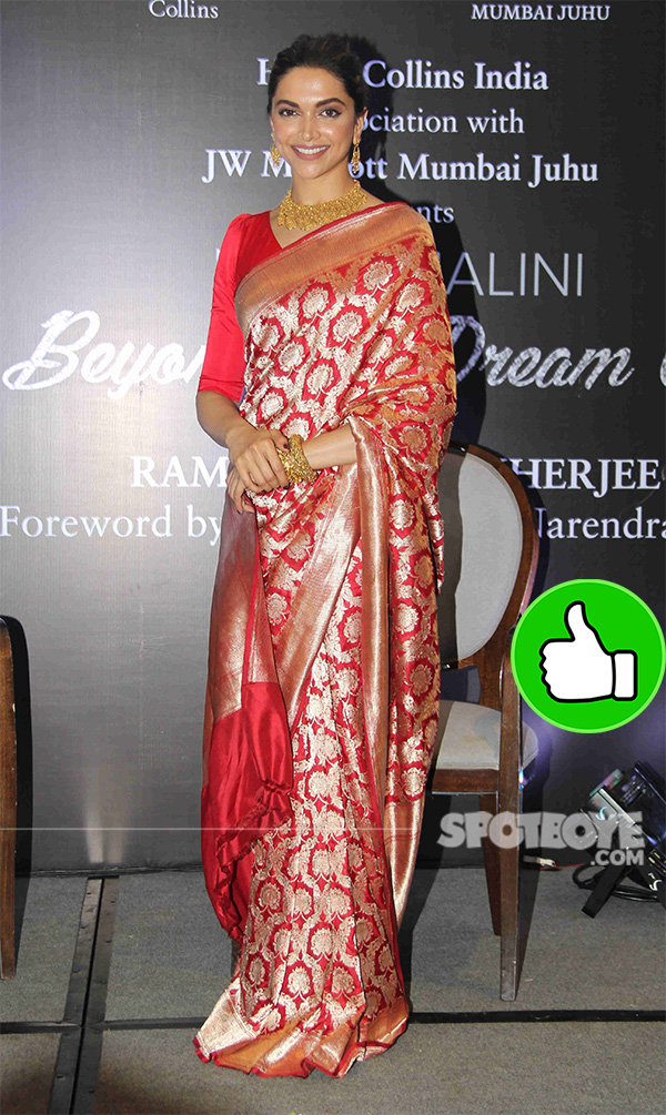 deepika padukone at launch of biography on hema malini