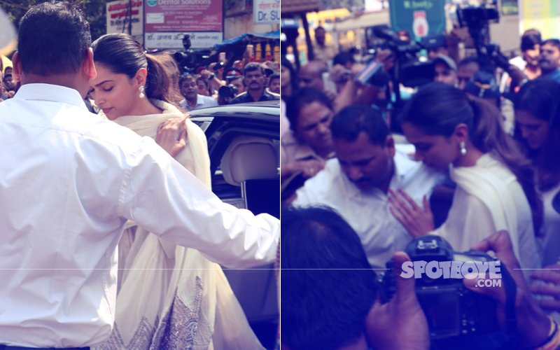 Chaos Outside Siddhivinayak Temple As Deepika Arrives To Seek Blessings Ahead Of Padmaavat Release