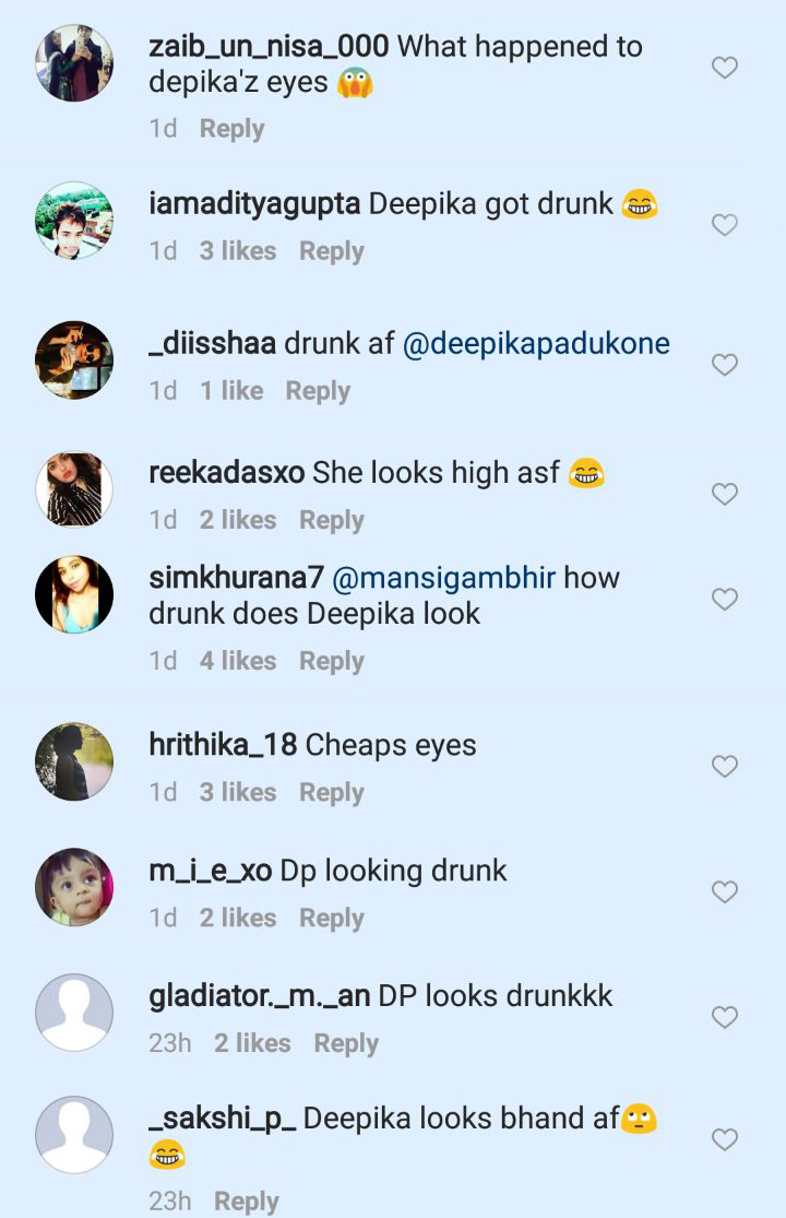 deepika trolled for looking drunk