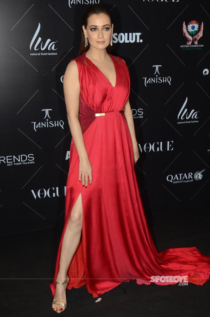 dia mirza at vogue beauty awards 2018