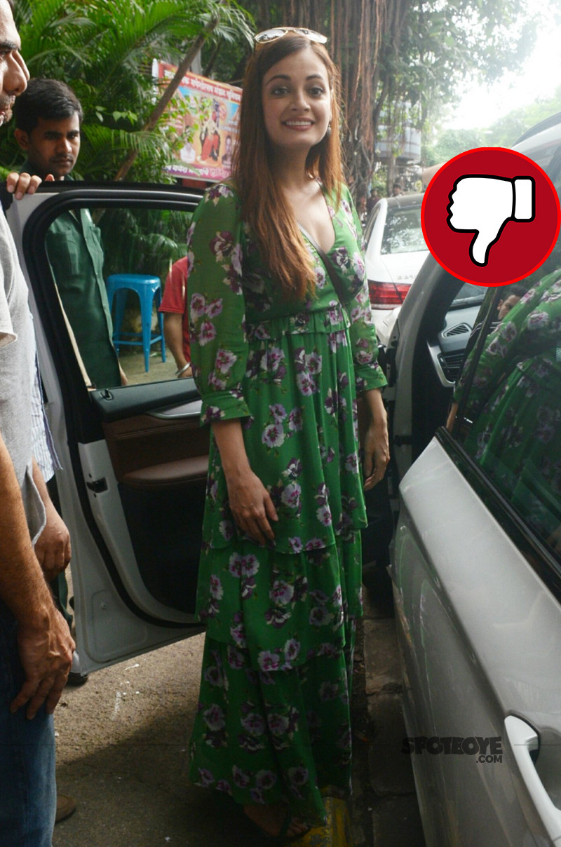 dia mirza snapped post lunch