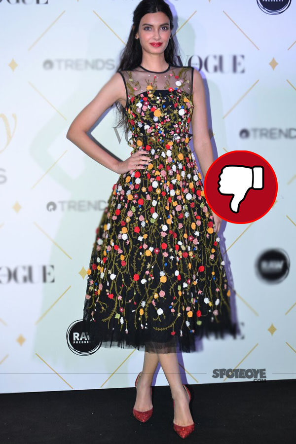 diana penty disappoints in a floral dress