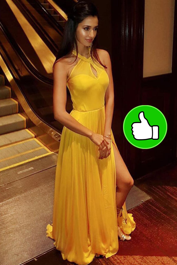 disha patani oozes sexiness in this orange number