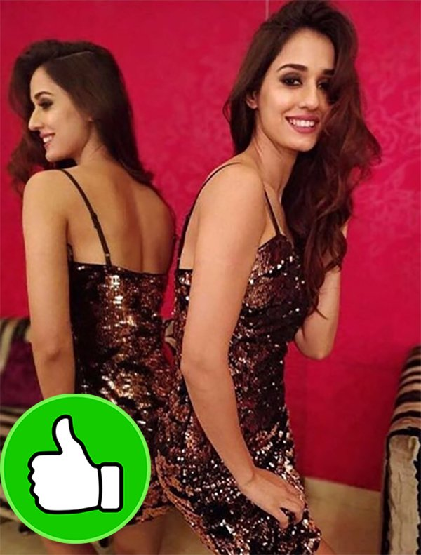 disha patani looks hot in shimmery dress