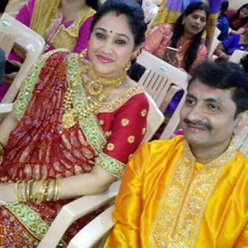 disha vakani with husband mayur pandya