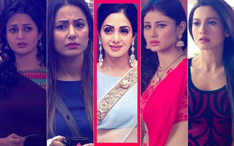 SRIDEVI NO MORE: Divyanka Tripathi, Mouni Roy, Gauahar Khan, Hina Khan, Mouni Roy MOURN The Legend's Demise