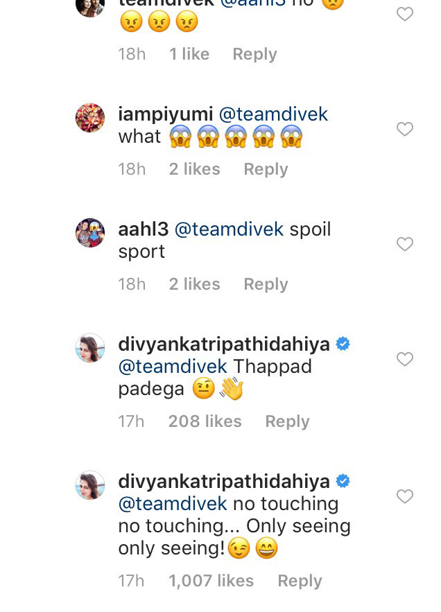 divyanka reply to teamdivek