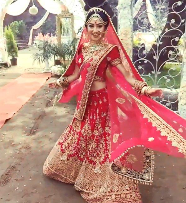 donal bisht in her bridal avatar