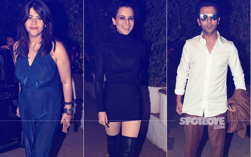 PICS: Ekta Kapoor Throws A Party For Kangana Ranaut & Rajkummar Rao's Mental Hai Kya