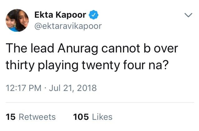 ekta kapoor latest tweet