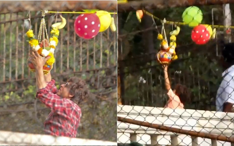 Shah Rukh Khan, AbRam Break Dahi Handi! Govinda Aala Re, Aala!