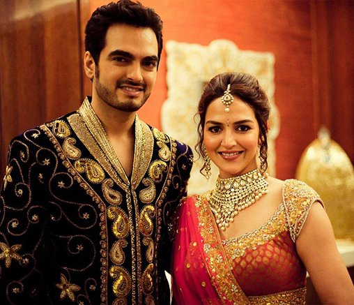 esha deol and bharat takhtani pose for the cameras