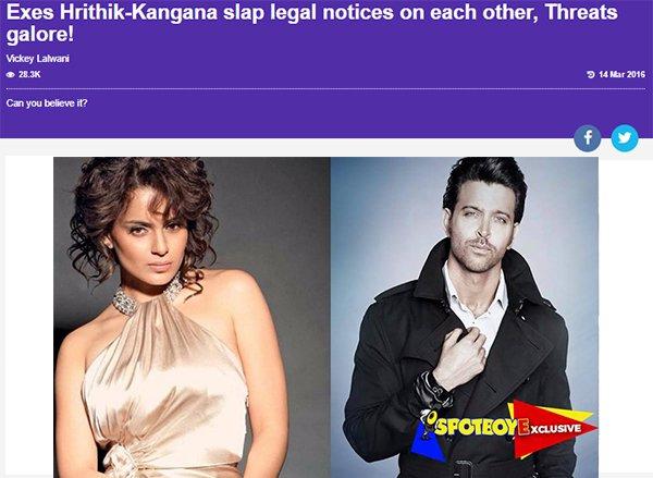 exes hrithik kangana slap legal notices on each other