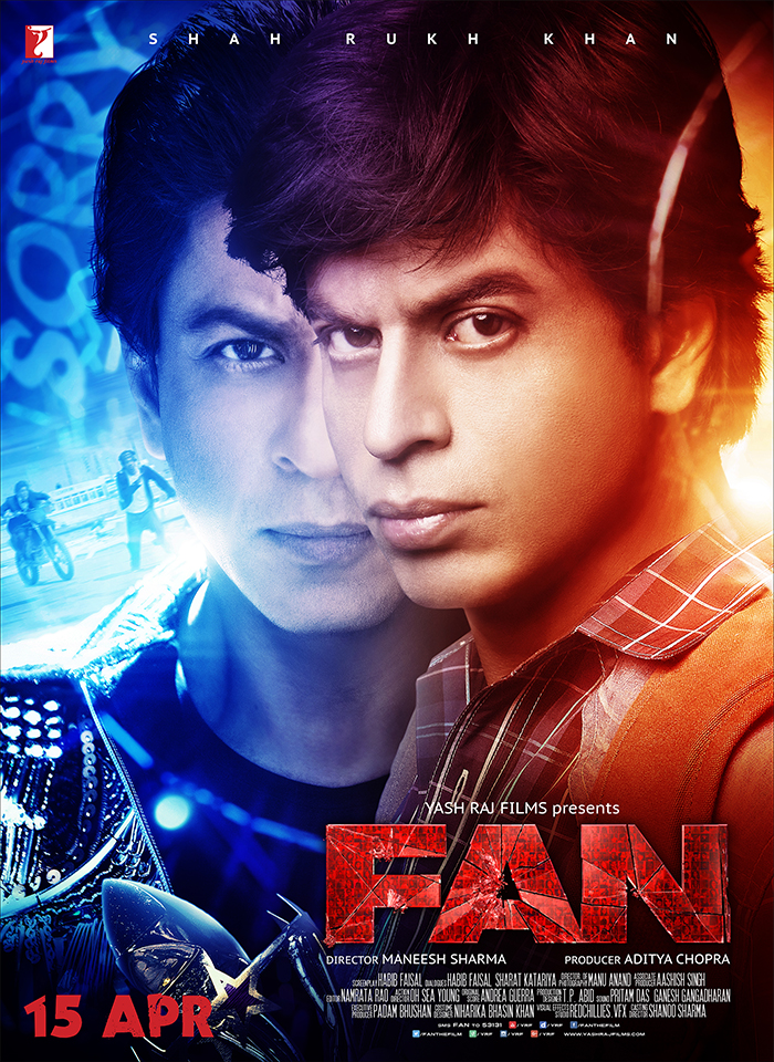 shah rukh khan in fan movie poster