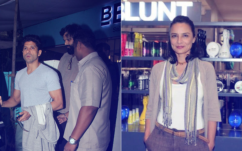 Farhan Akhtar Goes To Ex-Wife Adhuna's BBlunt Salon And Comes Out With A Smile!