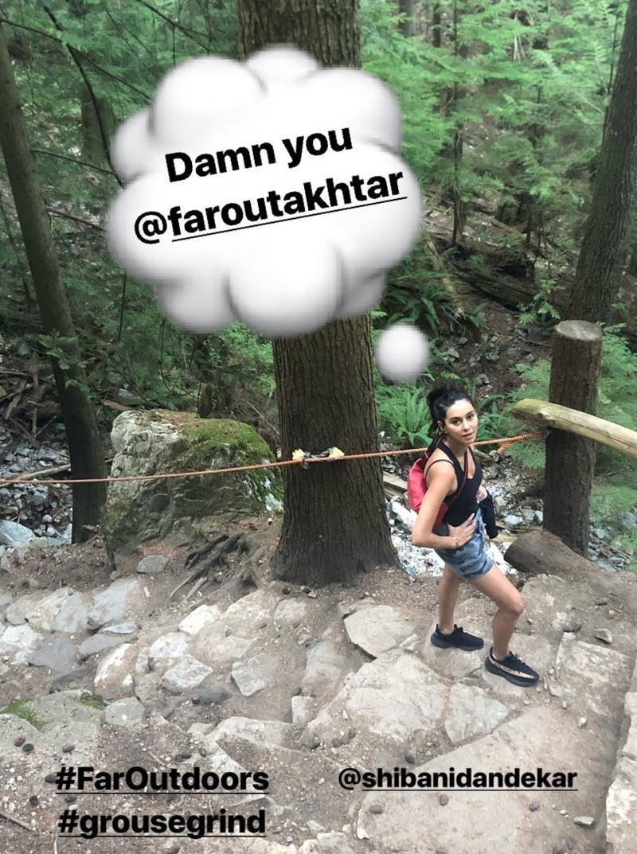 farhan akhtar shares a picture on shibani dandekar on his instagram account