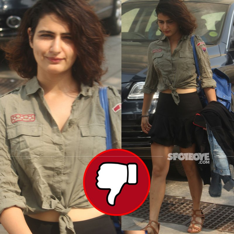 fatima sana shaikh post gym workout