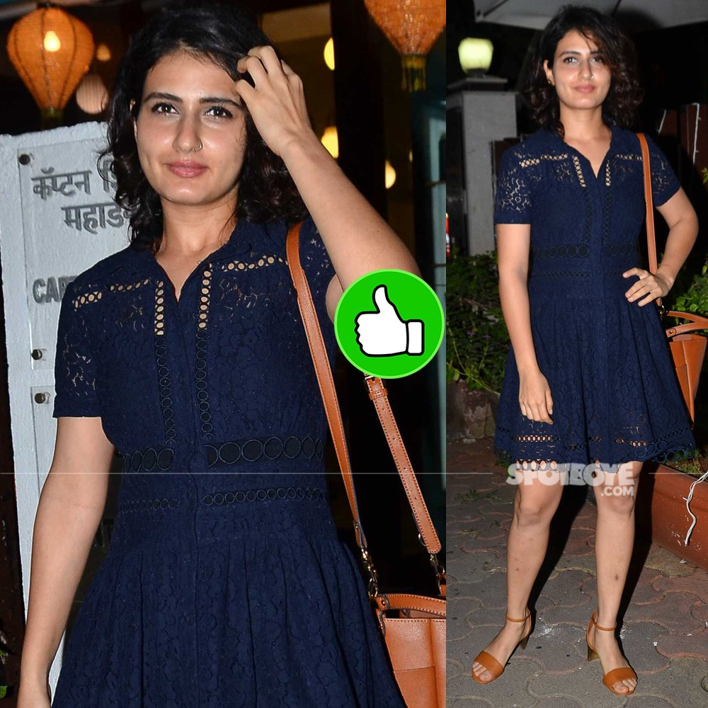 fatima sana shaikh snapped post salon session