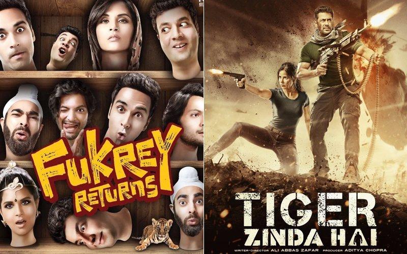fukrey retuns and tiger zinda hai poster